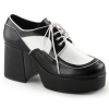 JAZZ-04 Black/White Faux Leather